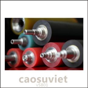 Trục cao su được bọc mới đáp ứng yêu cầu chất lượng, kích thước, màu sắc
