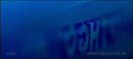 Tấm cao su có chữ đúc bằng khuôn