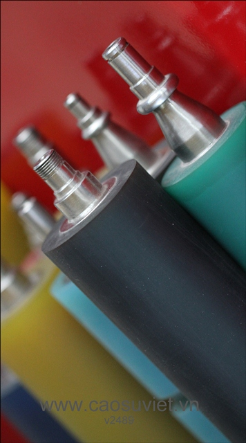Trục PU in flexo 4 màu