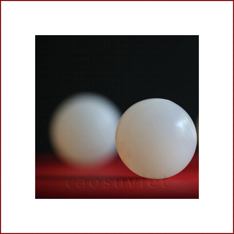 Molded, ground and polished rubber balls