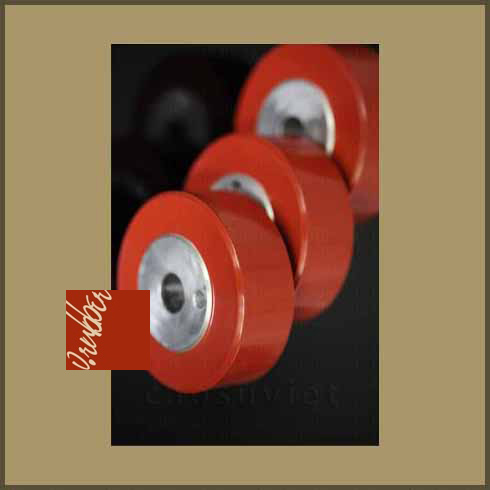 Custom rubber wheels with steel core